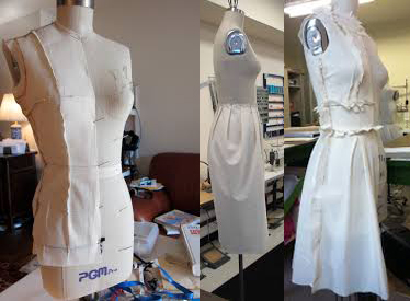 Muslin Draping on PGM Natural Body Dress Form