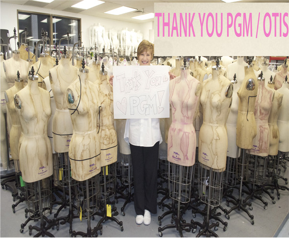 Otis Fashion University has sponsored by PGM with Dress Forms Antique