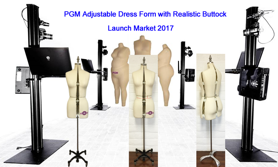 PGM Adjustable Dress Forms 3D Body Scaner