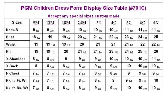 Children Dress Form Display Pgmdressform