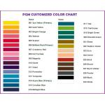 PGM Dress Form Mannequin Color Chart