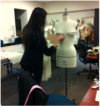 Draping on PGM Dress Forms