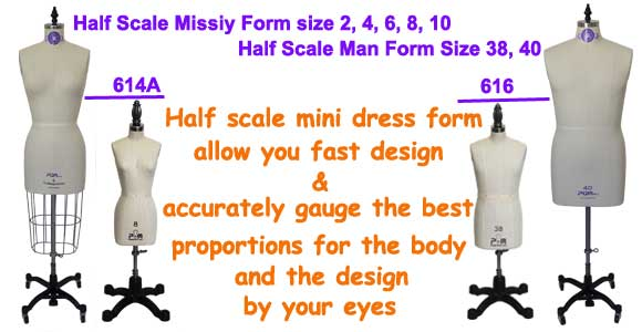 PGM Half Scale Miniature Dress Forms, Mini Man Dress Form