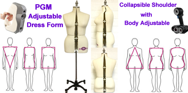 #1 Fashion Designers Draping and Fitting Tools, Professional Dress Form, Adjustable Dress Forms