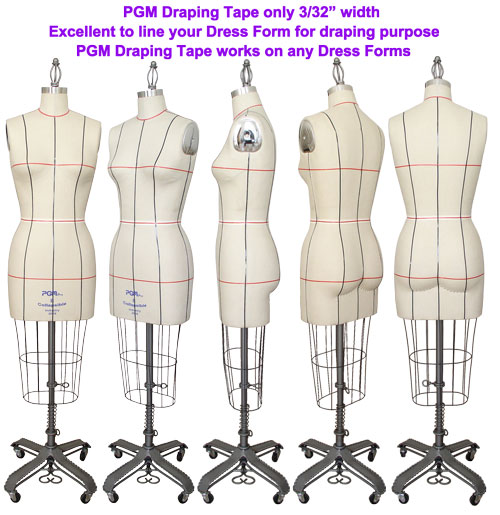 Using PGM Professional Draping Tape to line up your Dress Forms