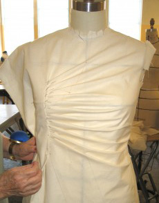 Draping on PGM Dress Form