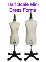 PGM Half Scale Missy Dress Form, Half Scale Man Dress Form