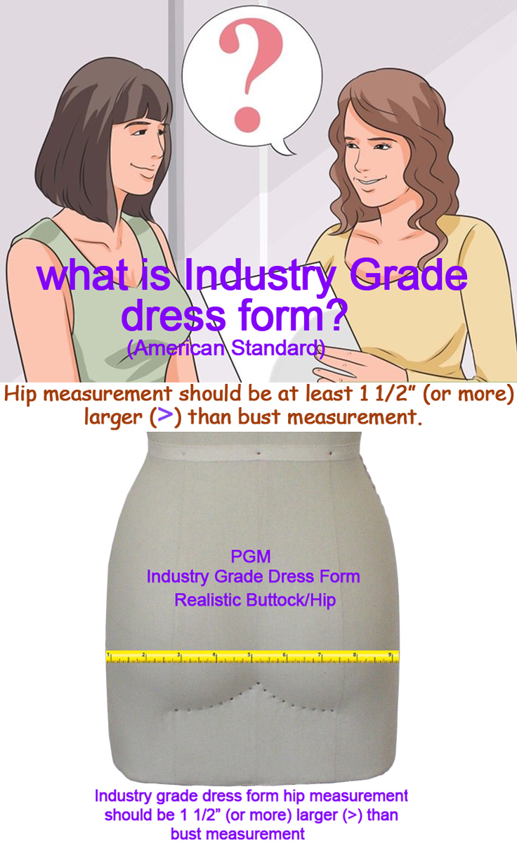 PGM Industry Grade Dress Forms American Standard Dress Form