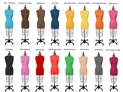 PGM Color Dress Form Mannequins