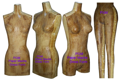 PGM Paper Mache Dress Form Industry Grade Dress Forms