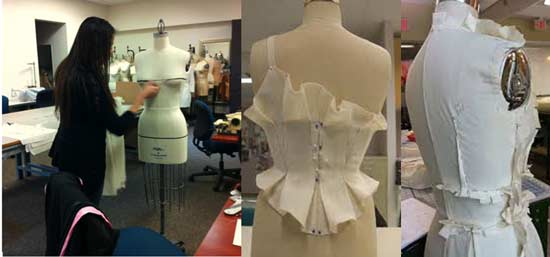 Muslin fabric draping on PGM Dress Forms