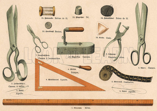 Historical Tailoring, Sewing Tools